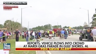 A Dozen Mardi Gras Parade Marchers In Alabama Were Injured When A Car Drove Into A Crowd