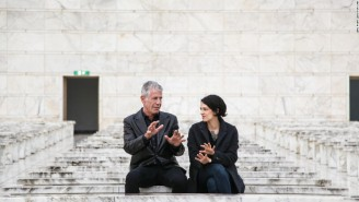 Anthony Bourdain's Recent Rome Trip Led To Amore