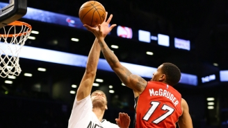 Brook Lopez Finally Had Enough Of Getting Dunked On With This Massive Block On Rodney McGruder