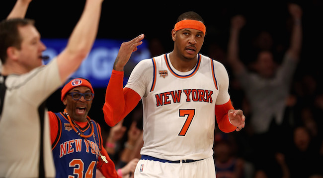 newest 2bde5 abc4b Carmelo Anthony Wore His Hoodie During Pickup With Russell ...
