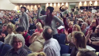 A Rowdy Crowd Shouted At The House Republican Who's Responsible For Holding Trump Accountable: 'Do Your Job!'