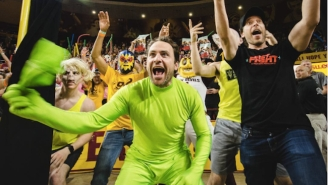 'It's Always Sunny's' Charlie Day Popped Up At An ASU Game As Green Man