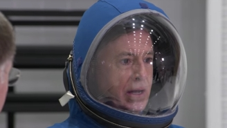 Stephen Colbert Engaged In Some Long Overdue 'Late Show' Astronaut Training