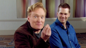 Conan Faces A Very Competitve Tom Brady And A Few Special Guests In The Latest Super Bowl Edition Of 'Clueless Gamer'
