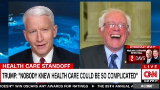 Bernie Sanders And Anderson Cooper Laugh At Trump's 'Nobody Knew Health Care Could Be So Complicated' Claim