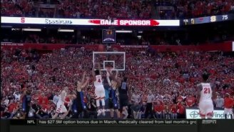 Syracuse Knocked Off Duke At The Carrier Dome On A Ridiculous Banked Buzzer-Beater