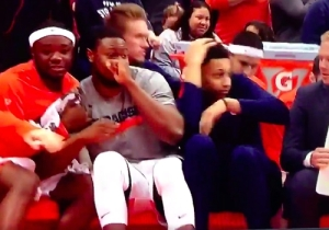 This Vicious Louisville Alley-Oop Was So Crazy That Even Syracuse's Bench Was Impressed
