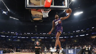 Derrick Jones Jr. Thought He Was Still In The Dunk Contest Against The Bulls On Friday Night