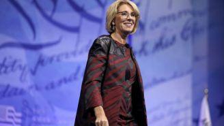 Betsy DeVos Slams Obama's Directive On Transgender Bathroom Rights As A 'Huge Overreach'