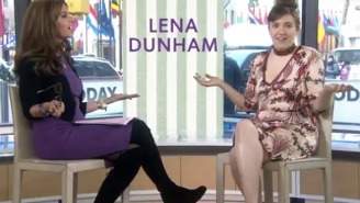 Watch Lena Dunham Fluster Maria Shriver By Dropping A P-Bomb On The 'Today' Show