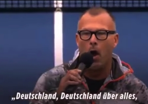 A U.S. Singer Performed The Nazi Version Of The German Anthem Before A Match, And People Were Pissed