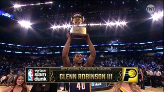 Glenn Robinson III Won The Slam Dunk Contest By Jumping Over Everybody