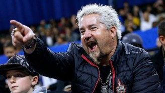 Guy Fieri Says Drake Is A 'Great Guy' But Won't Comment On His Sideline Antics