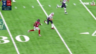 Hear How Tom Brady's Devastating Pick-Six Was Called All Over The World