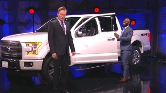 Conan Surprised James White By Giving Him Tom Brady's Super Bowl MVP Truck