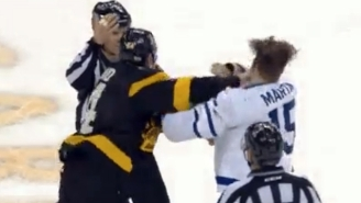 This Brutal Hockey Fight Featured A Seemingly Endless Supply Of Haymakers