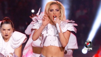 Lady Gaga Rocked Shoulder Pads For A Super Bowl Super Cut Of 'Bad Romance'