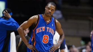 The Knicks Brought Latrell Sprewell And Other Ex-Knicks Courtside Amid The Charles Oakley Mess