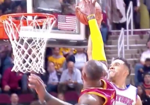 LeBron James Ruthlessly Pinned This Courtney Lee Dunk Attempt Against The Backboard