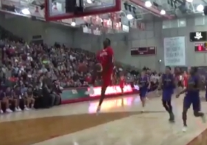 Manute Bol's 7-Foot Son Busted Out A Between The Legs Dunk In The Middle Of A Game