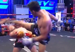 Watch This Muay Thai Fighter Pull Off An Impossible 'Matrix' Move In Real Life