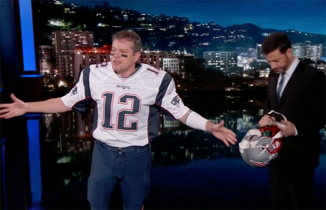 Matt Damon Poses As Tom Brady To Sneak His Way Back On 'Kimmel' To Continue His Feud