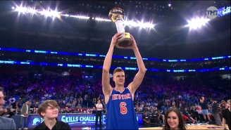 Kristaps Porzingis Proved He Truly Is A Unicorn By Winning The All-Star Skills Challenge