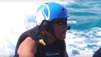 Obama Went Surfing For The First Time In 8 Years Thanks To Richard Branson And His Private Island