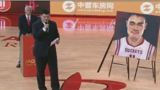 Yao Ming Had His Jersey Immortalized With Other Rockets Legends Friday
