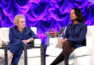 Former Secretaries Of State Condi Rice And Madeleine Albright Denounce Trump's 'Ill-Advised' Ban