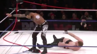 Ricochet Delivered The World's First Grounded Top-Rope Moonsault