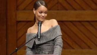 The Internet Loved Rihanna's Hilarious 'So I Made It To Harvard' Moment During Her Humanitarian Speech
