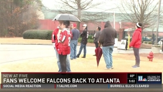 The Falcons, Who Blew A 28-3 Lead, Received A Depressing Welcome Home From Fans
