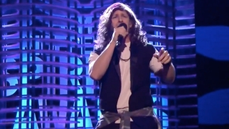 Andy Samberg Morphed Into Pearl Jam's Eddie Vedder For The 'Non-Memorium' At The Spirit Awards