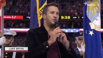 Watch Georgia Native Luke Bryan Solemnly Sing The National Anthem At Super Bowl LI