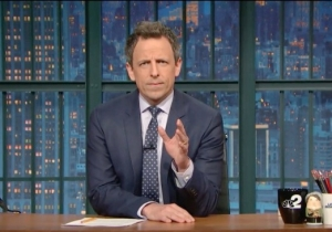 "Seth Meyers Takes Trump To Task Over Transgender Rights With ""HEY!"""
