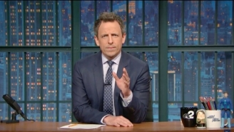 """Seth Meyers Takes Trump To Task Over Transgender Rights With """"HEY!"""""""