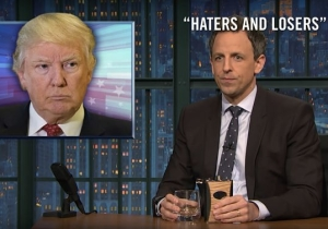 Seth Meyers Gives A 'Closer Look' At Donald Trump's Abuse Of Presidential Powers