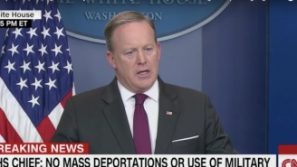 Sean Spicer: Trump Used 'Military Operation' As 'An Adjective' While Discussing The Deportation Crackdown