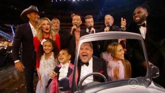 James Corden Set Up A Monster 'Carpool Karaoke' Rendition Of 'Sweet Caroline' For The Grammys