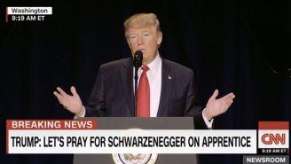 Donald Trump Mocks Arnold Schwarzenegger's 'Celebrity Apprentice' Ratings At The National Prayer Breakfast