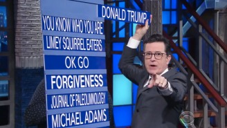 Stephen Colbert Officially Puts Donald Trump On Notice For Stealing His 'On Notice' Bit