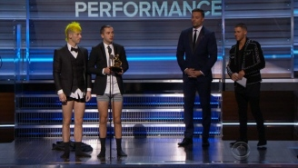 21 Pilots Accept Their First Grammy With Their Pants Down — And Tell The Story Why