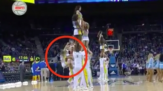 This Cheerleader Had A Very Bad Night After Taking A Hard Fall And Then Being Dropped Again