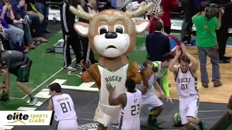 The Bucks Inflatable Mascot Looked Like Giannis Antetokounmpo On This Hilarious Dunk