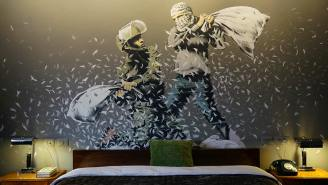 The Ever-Mysterious Banksy Opened A Hotel In Palestine With 'The World's Worst View'