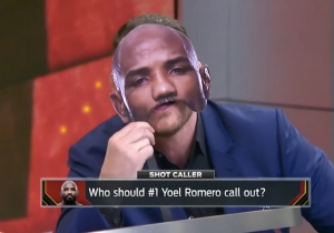 Middleweight Champ Michael Bisping Went Full Heel With His 'Caveman' Yoel Romero Impression