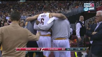 Andrew Bogut Lasted About Two Minutes In Cleveland Before Getting Hurt