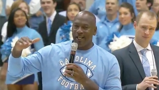 Michael Jordan Tossed The Internet Into Confusion With His 'Ceiling Is The Roof' UNC Halftime Speech