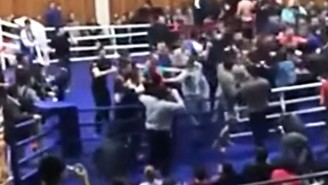 A Massive Ring-Crashing Brawl Broke Out During The Dagestan MMA Championships